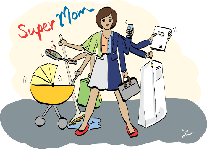 Image of busy supermom